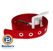 BUTCHER'S RED VINYL BELT (NEW)
