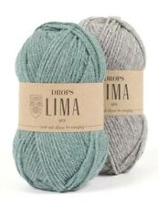 Alpaca and Wool Yarn, DK Light Worsted Weight Yarn 1.8 oz 109 Yards Drops LIMA