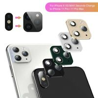 Camera Lens Sticker Coverw For iPhone X XS MAX Seconds Change iPhone  11 Pro