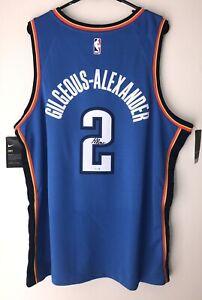 Shai Gilgeous-Alexander Thunder Signed Nike NBA Swingman Auto Jersey FANATICS