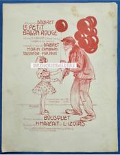 DALBRET PARTITION PETIT BALLON ROUGE BOUSQUET IZOIRD-SÈTE MAILF 1912 POUSTHOMIS