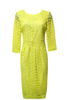 M&S Size 8 YELLOW LACE DRESS -- M and S AUTOGRAPH -MARKS and SPENCER