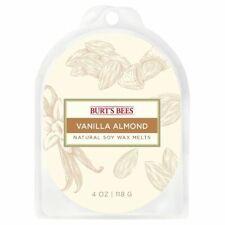 BURT'S BEES NATURAL SOY WAX MELTS 4 OZ VANILLA ALMOND BRAND NEW