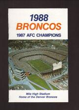 Denver Broncos--1988 Pocket Schedule--AB Hirschfeld Press--Mile High Stadium