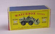 Repro Box Matchbox King Size K-10 Aveling-Barford Tractor-Shovel