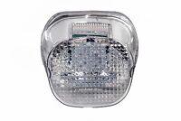 CHROME lens tail brake LED light Harley Davidson motorcycle stop lamp XL FLH FX