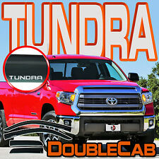 Tundra Double Cab 2007-2017 Window Sun Rain Deflector Vent Guard Visor with Logo