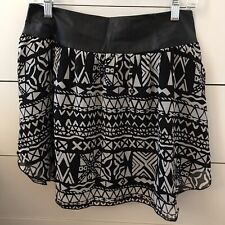 Amuse Society Preston Mini Skirt Large Black & White