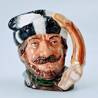 "Royal Doulton THE TRAPPER D6612 Small  3 3/4"" character jug. Mint. PO"