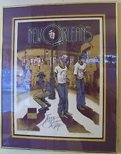 "Bourbon St. New Orleans""Jazz on Tap"" Ron Picou Serigraph FRAMED"