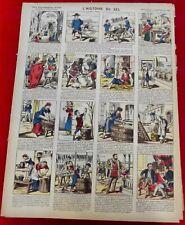 Image d'Epinal Pellerin Art Print 1900 N°3827 l'Histoire du Sel ramassage