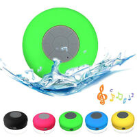 HIFI Waterproof Wireless Bluetooth Handsfree Mic Suction Speaker Shower Car Mini