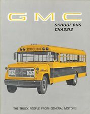 1969 GMC School Bus Chassis Conventional Pusher Type Handi-Bus Sales Brochure