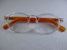 #trending Reading Glasses CLEAR Front & TANGERINE with Spring Temples +1.75