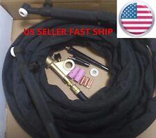 US SELLER WP-9FV 12ft 125 Amp Air-Cooled Gas Valve & Flex Head TIG Welding Torch