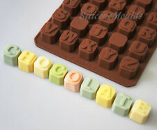 Upper Case ALPHABET BRICKS LETTERS Chocolate Candy Silicone Bakeware Mould Cake