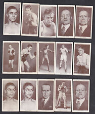 1938 CHURCHMAN'S BOXING PERSONALITIES - LOT OF 15 ASSORTED CARDS  - NICE!
