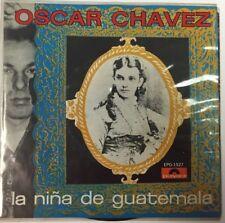 "OSCAR CHAVEZ -LA NIÑA DE GUATEMALA / MUNDO TRISTE MEXICAN 7"" EP PS PROMO STAMPED"