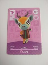 Lopez #027 Animal Crossing Amiibo Card Series 1 Nintendo Switch 3DS Wii U