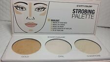 CITY COLOR STROBING PALETTE HIGHLIGHTER GOLD, OPAL & CHAMPAGNE NEW