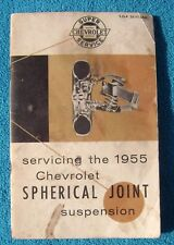 1955 Chevy Chevrolet Spherical Joint Suspension Booklet
