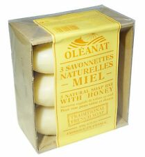 OLEANAT HONEY SOAP 3x150g 100% VEGETABLE BASED NATURAL SOAP BARS FREE UK POST