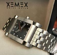 "Xemex Men's Watch Automatic Timepiece 2892-A2 Avenue "" Quarter "" Black Arabic"