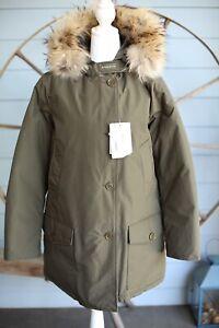 Woolrich Down Jacket Coat w/Fur Hood sz M Green NEW $995