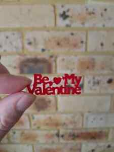 Be my valentine, laser cut, acrylic, crafts, buttons, embellishment