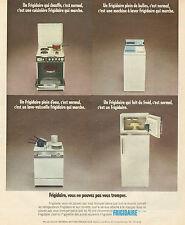 Publicité 1973  FRIGIDAIRE cuisinière machine à laver lave vaisselle frigo
