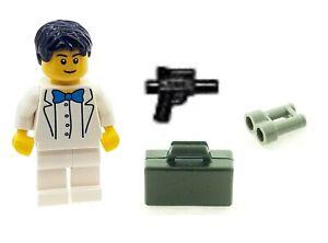 LEGO Minifigure James Bond White Suit with Accessories Genuine LEGO Parts