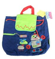 """NWT eeBoo HOPPY BUNNY Embroidered Kids Toddler BackPack 12/""""x9.5/"""" Ages 3 Purple"""