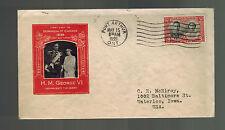 1939 Port Arthur Canada Royal Visit cover to Waterloo IA USA KGVI King George 6