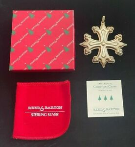 1998 Sterling Silver Annual Christmas Cross! Reed & Barton Silver! FREE SHIPPING