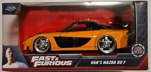 Jada Fast and Furious 1:24 Han's Mazda RX-7 Diecast