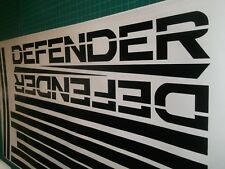 Land Rover Defender 90 110 130 Stripe sticker decal Kit base roue long