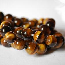 Grade A Natural Tiger Eye Gemstone Round Beads - 4mm 6mm 8mm 10mm