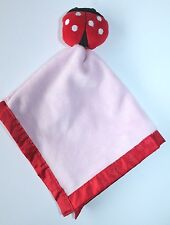 Baby Essentials Red Ladybug Pink Rattle Lovey