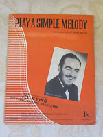 Antique Original Sheet Music Of Play A Simple Melody, By Irving Berlin - 1942