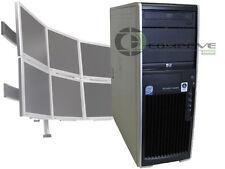 HP XW4600 Dual Core 2.33GHz/4GB RAM/Win10 - 6 Monitor Desktop Computer Tower