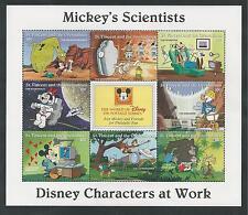 ST. VINCENT & GRENADINES # 2251a-h MNH DISNEY MICKEY'S SCIENTISTS Souvenir Sheet