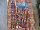 Beautiful South American Village Woven Wall Tapestry Ready to Frame