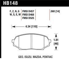 Hawk 90-93 Geo Storm / 90-92 Isuzu Impulse / 90-93 Mazda Miata DTC-30 Front Race