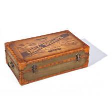 Coffre boite de rangement décoration industrielle vintage Emile Ruillier Cuire c
