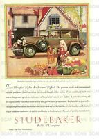 1930 Studebaker Vintage Magazine Ad  'Builder of Champions'