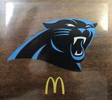 "New Carolina Panthers NFL Window Cling McDonalds  4"" x 4 1/4""  Only .99"