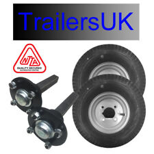 """Non Suspension Trailer Kit 8"""" Wheels & Stub Axles - Ideal for off road use"""