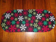 New Holiday Christmas Snowflakes Sm Table Runner--Toilet Tank Topper--Dresser