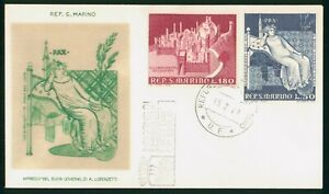 MayfairStamps San Marino Combo A Lorenzetti 1969 First Day Cover wwp62049