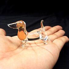 New Dachshund Dog Hand Blown Glass Figurine Collectibles Art Glass Decor Charm